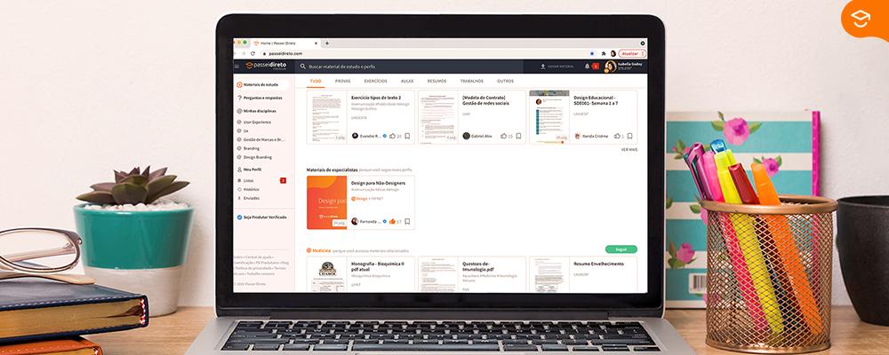 tela-de-computador-mostra-compartilhar-conhecimento